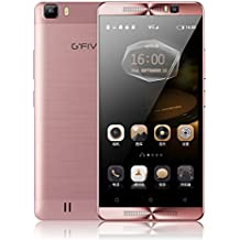"""Gfive L3 Smartphone móvil libre 3G de 5.5"""" 1280 x720 HD(Android 5.1, Pantalla 5.5"""", Quad Core, 16GB ROM, 2GB RAM, Dual SIM, Batería de gran capacidad 5000MAH ) oro rosa"""