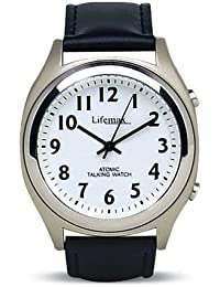 8c49f0401e0 Radio Controlled Talking Watch with Leather Strap (Eligible for VAT relief in  the UK)