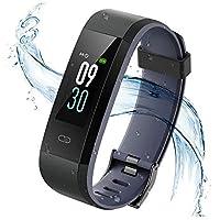 Vigorun Pulsera Inteligente,IP68 Impermeable Fitness Tracker Pulsera Actividad Rastreador de Actividad de Pantalla en Color Monitor de Pulso cardiaco/Podómetro/Monitor de sueño,para Hombre y Mujer