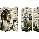 Biombo Buda Zen WABI-SABI, fotoimpresión sobre lienzo reforzado, montado sobre bastidores de madera.