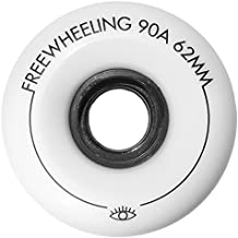 freewheeling Juego de 4ruedas Wheels 62mm 90A para Round para longboard/monopatín/Mini Cruiser Slide–Freeride, Freestyle y Downhill–COD. 1117612