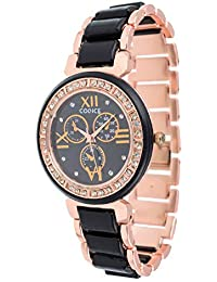 Codice Black Dial Rose Gold Watches for Girls & Women - Codice-Womenwatches-Meenablack