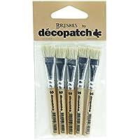Décopatch PACKPC05O Pack de 5 Pinceaux en soie 7 x 1 x 14 cm Beige