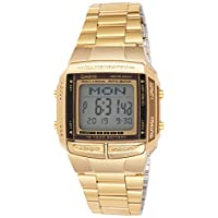 Casio Watch For Men digital Stainless Steel Band - DB360G-9A, Gold