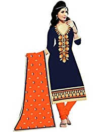 MAHI FASHION Women's Cotton Dress Material (MF06_Free Size_Multi-Coloured)