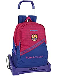 FC Barcelona Corporativa Oficial Mochila Espalda Ergonómica Con Carro Safta Evolution