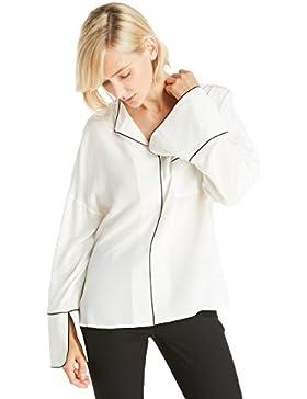 LILYSILK Camisa Mujer de Seda Cuello Solapa - 100% Seda Natural de 18MM