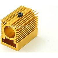 Q-BAIHE Radiateur en aluminium Radiateur 20x27x32mm pour module laser 12mm Doré