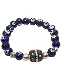 Jaz's Evil Eye-Buri Nazar-Buri Drishti-Blue Bead-Bracelet-Good Luck Protection BeadsStretchable Bracelet - B072BZ7RLB