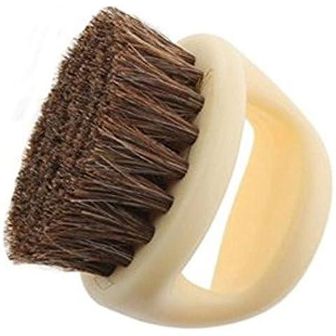 niceeshop(TM) Cepillo Suave de Pelo de Caballo en Forma de Herradura para los Zapatos( Beige)