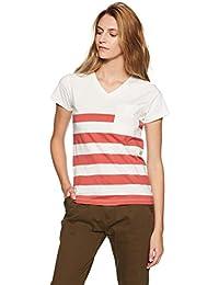 Amazon Brand- Symbol Women's Striped Regular Fit T-Shirt