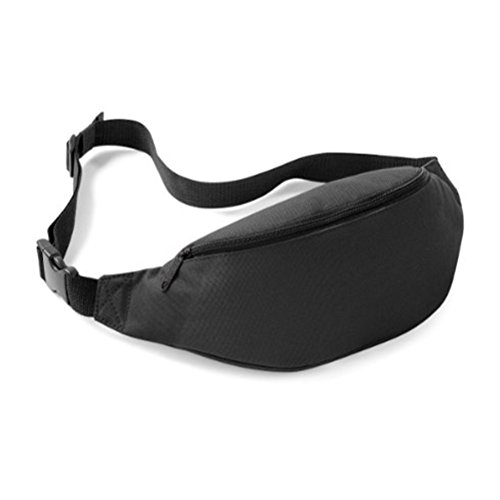 Sports Fanny Pack Belly Waist Bum Bag Fitness Running Jogging Cycling Belt Pouch (Black)