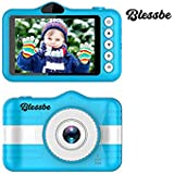 BLESSBE Digital Selfie Camera for Children Cute Camcorder Video Recorder Digital Camcorders (Blue)- BB18