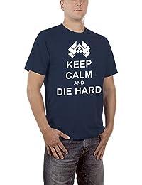 Touchlines Herren T-Shirt Keep Calm and Die Hard