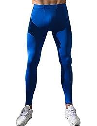 EUFANCE Uomo Base Layer Compressione Corsa Sport Palestra Collant Pantaloni  Fresco 3a588fb2ff5
