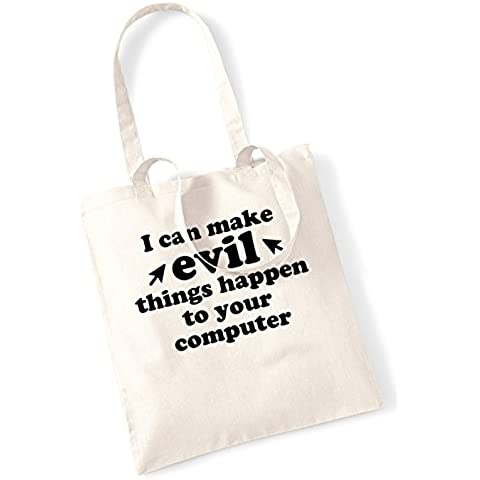 I can make evil things to happen computer tote bag