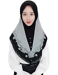 40f0bfd47b0d Acqrobe Femme Hijab Wrap Dames Foulard Musulman Foulard Maxi Doux Foulard  Islamique Pleine Couverture