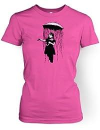 Regenschirm Mädchen Nola Männer Banksy T-Shirt Damen T-Shirt