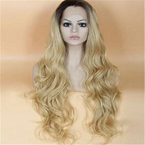 instylehair Brazilian Virgin capelli umani Colore 1B 613Biondo merletto pieno