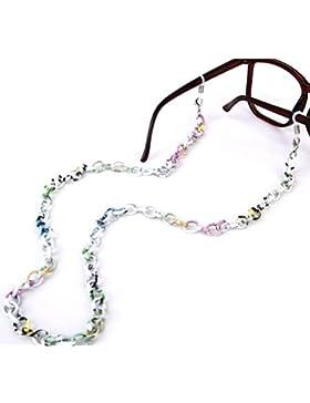 LEORX Soporte para gafas, diseño de cadena 70cm moda aluminio antideslizante gafas cadena correa titular (Multicolor)
