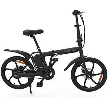 SmartGyro Ebike City -Bicicleta de Paseo eléctrica, Plegable y con Asistente al pedaleo (Ruedas neumáticas 20