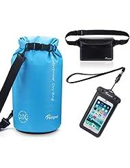 Reignet Dry Borsa Impermeabile Kit 3 in 1-20L Dry Bag Sacca Stagna, Custodia Impermeabile per Cellulare, Waterproof Zaino Marsupio, Impermeabile IPX8&IPX6 Certificazione per Piscine, Nave, Trekking