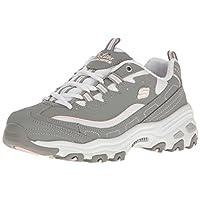 Skechers D Lites Biggest Fan Womens Shoes 8 B(M) US Women Grey White