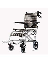 Silla de Ruedas para Ancianos Coche discapacitado para Ancianos Carretilla pequeña Carro para Compras de comestibles