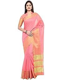 Sarvagny Clothings Silk Cotton Saree (Bahubali_Orange)