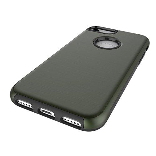 Einfache gebürstete Textur 2 in 1 PC + TPU Kombination Schutzhülle für iPhone 6 & 6s by diebelleu ( Color : Army green ) Army green