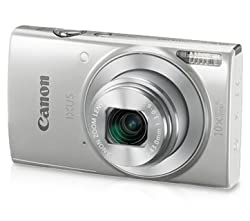 Canon IXUS 190 Digital Camera (Sliver) with 8GB Memory Card and Camera Case