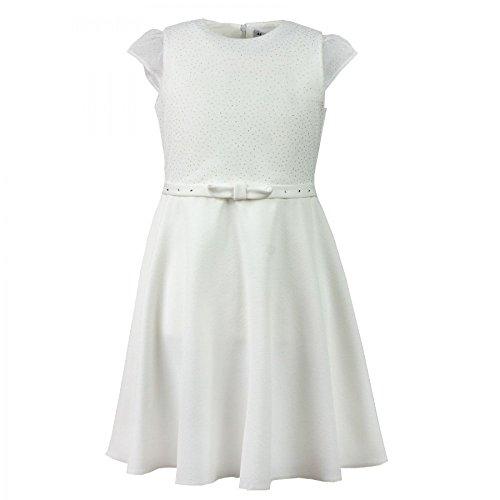 Festliches Mädchen Kleid Mirela: Kommunion, Hochzeit, Geburtstag, kurzarm (146)
