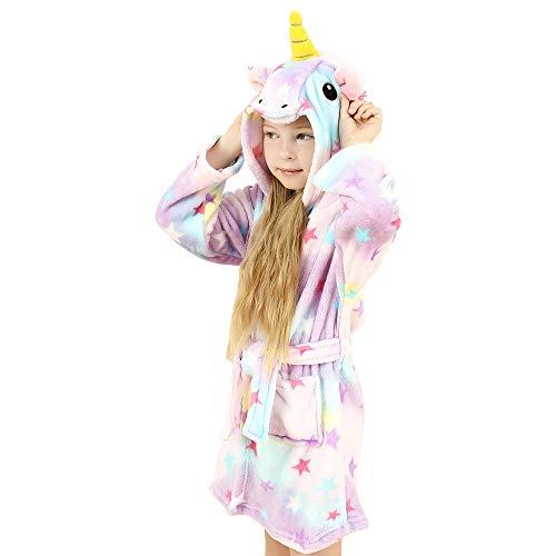 wgde toy Jouets pour Filles de 6-7 Ans, Douce Licorne Peignoir à Capuchon Vêtements de Nuit pour Enfants Licorne Jouets pour Filles de 6-7 Ans Cadeaux de Licorne pour Filles de 6-7 Ans