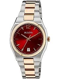 (CERTIFIED REFURBISHED) Bulova Classic Analog Red Dial Women's Watch - 98M119