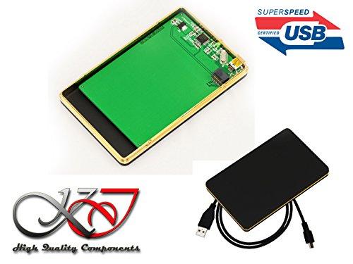 Kalea Informatique Gehäuse Aluminium schwarz matt für Festplatte Ultraslim Western Digital sff-8784WD5000MPCK–USB 3.0SuperSpeed 5Gbps