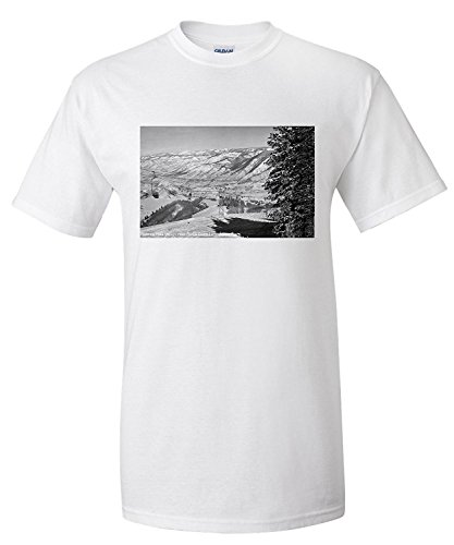 Aspen, Colorado - Aspen Chair Lift View of Roaring Fork Valley Photograph (Premium T-Shirt) -