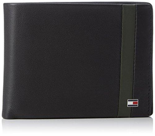 Tommy HilfigerCOLOR BLOCK CC FLAP AND COIN POCKET - Portafogli Uomo , Multicolore (Mehrfarbig (Black/Coffee Bean/Rosin 901 901)), 13x10x3 cm (B x H x T)