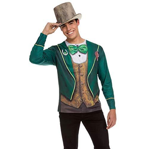 viving Kostüme viving costumes231222Saint Patrick Herren Lange Ärmel T-Shirt (klein) (Saint Dress Up Kostüm)