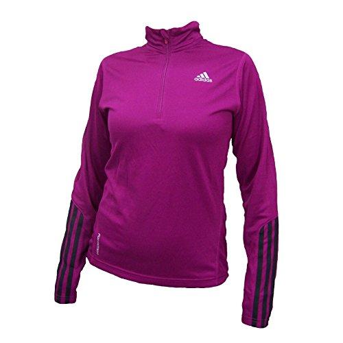 Adidas Response DS 1/2 Zip Damen Running Longsleeve T-Shirt Joggingshirts ClimaCool Laufshirts Runningshirts Langarmshirts Jogging Oberteile Laufen Joggen Laufsport Formotion RSP Frauen Lila 38