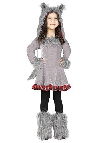 ancy dress costume Size 4/6 (Furry Wolf Kostüm)
