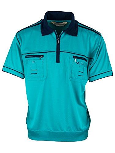 Polohemd Poloshirt für Herren von SOUNON, verschiedene Farben - Größe M bis 5XL Türkis