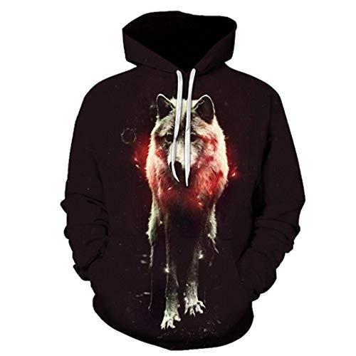 Wolf Eagle Hoodies Herren Herren Kleidung Cloud Pocket Tier Hoddie Sweatshirt LMWY-378 5XL