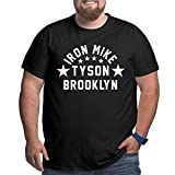 Giamore Men Big Size T Shirt Iron Mike Tyson Brooklyn Tee Breathable Oversize Tee Shirt Larger Waist Size
