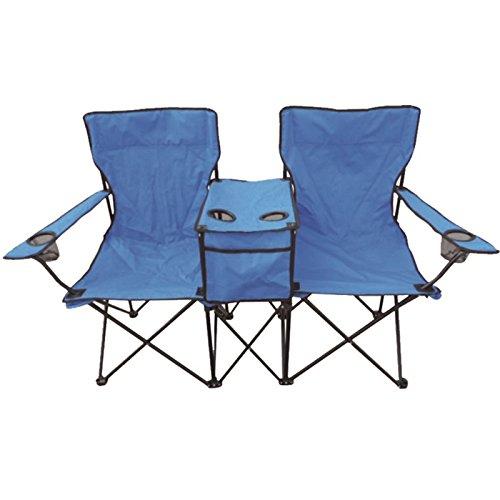 Duo Two Person Twin Double Folding Camping Deck Chair Outdoor Fishing  Picnic Beach Garden Patio Foldable Furniture Seat