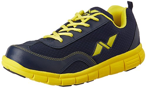 Nivia Escort Running Shoe, Men's 9 UK (Navy/Yellow)  available at amazon for Rs.599