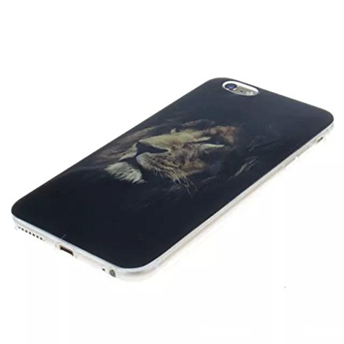 """Trumpshop Smartphone Case Coque Housse Etui de Protection pour Apple iPhone 6/6s 4.7"""" + Plume Rouge + Flexible Ultra Mince Silicone TPU Gel avec Absorption de Choc Le roi Lion"""