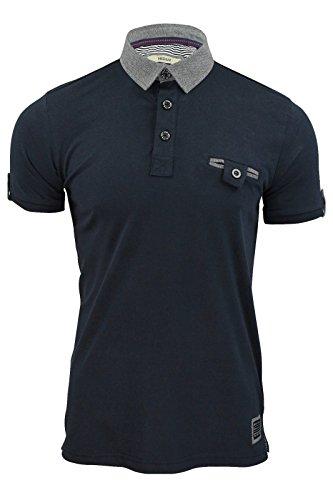 Brave Soul Herren Poloshirt xl Diego Navy Blue