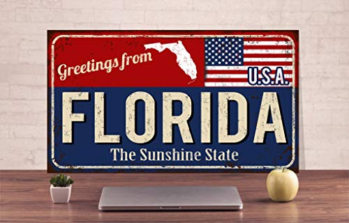 1010 Laser (Florida Schild Florida Metall Schild Sunshine State Sign USA Sign USA Sign American State Sign Decor Sign USA Metal Decor Sign USA State Metal Decor Sign)