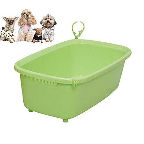 Vasca da bagno per animali domestici, cesto della biancheria ovale - contenitore/organizzatore di immagazzinaggio - pattumiera portatile - cesto salvaspazio