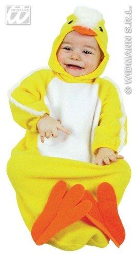 Costume vestito di carnevale per neonato pulcino